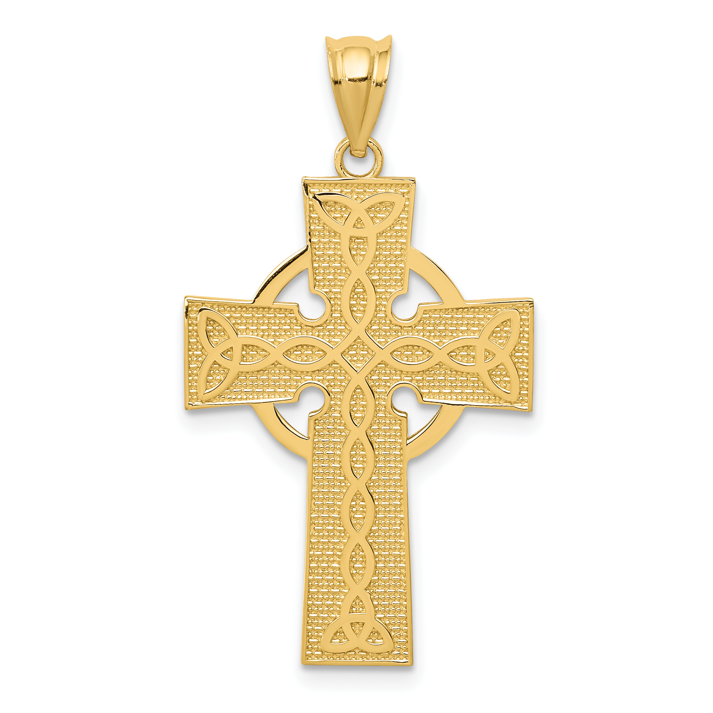 14k irish cross pendant aloadofball Images