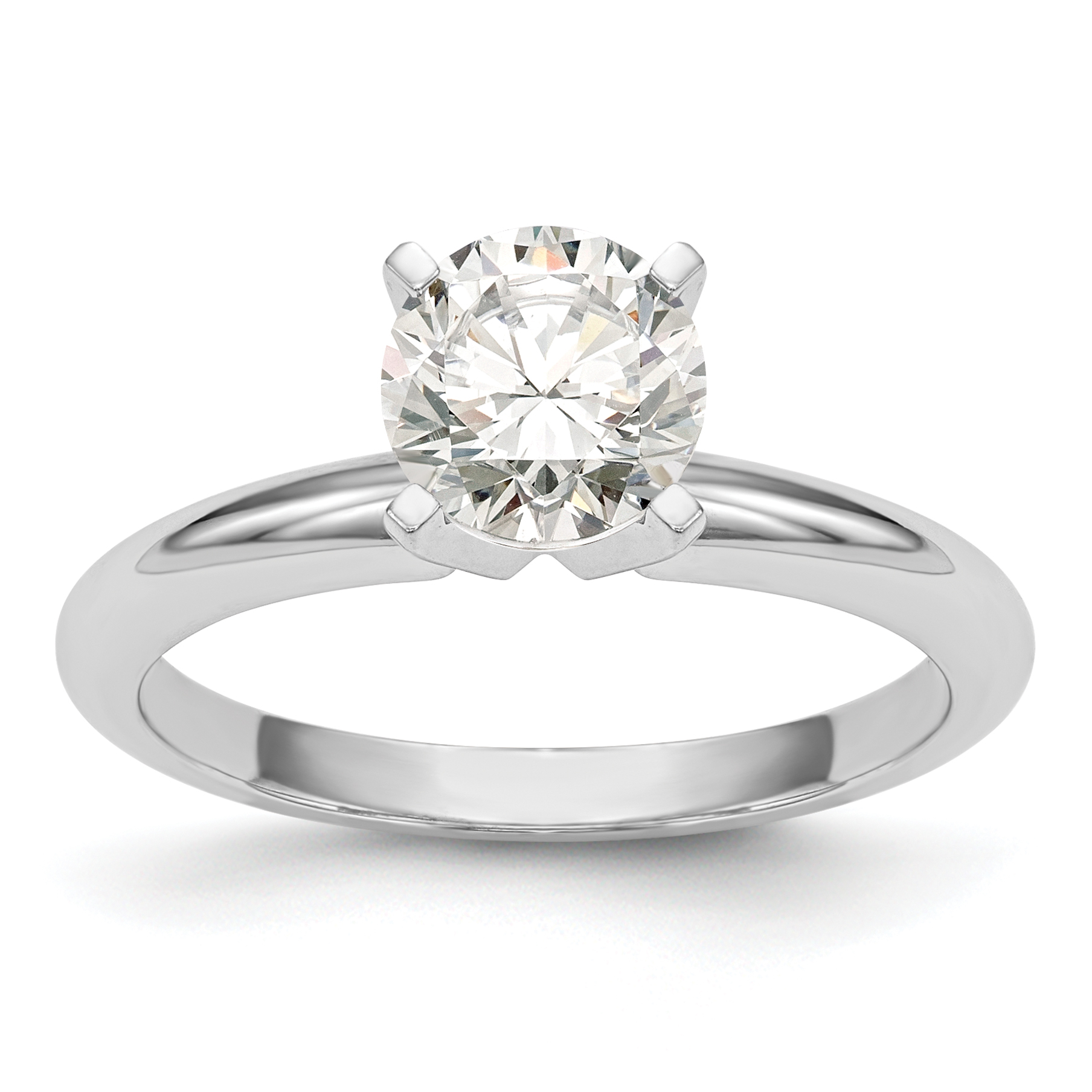 round ct rings engagement diamond j in platinum ring solitaire