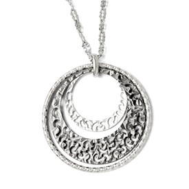 Sterling Silver Ruthenium-plated Necklace w/ 2in ext