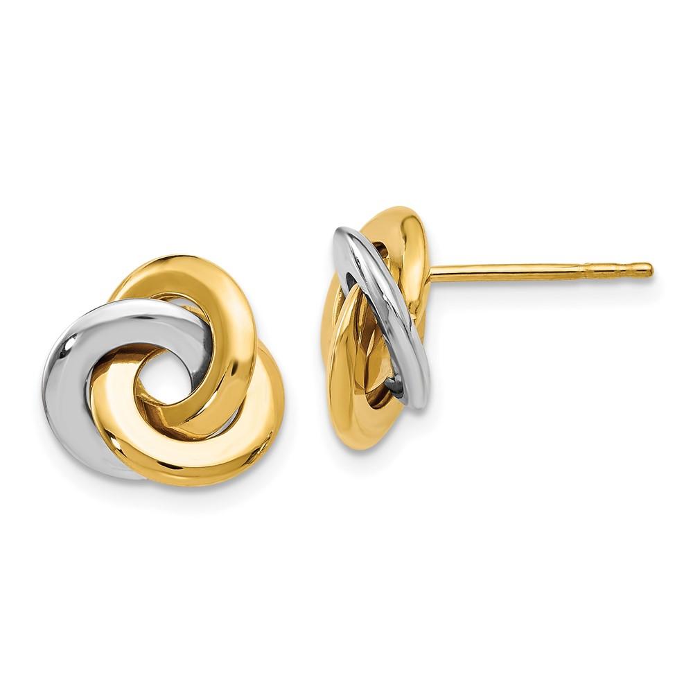 Leslie's 14K Two-tone Polished Post EarringsLE938