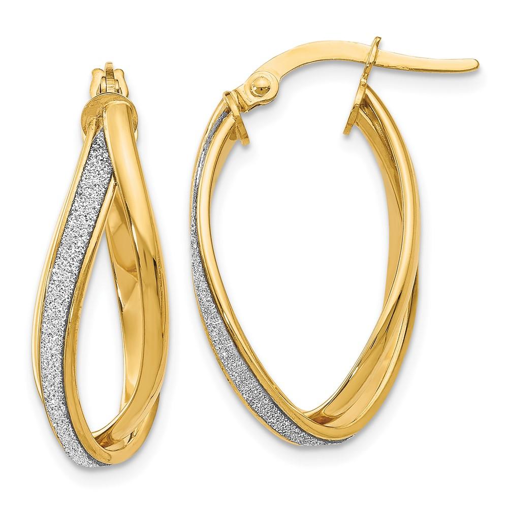 Leslie's 14K Glimmer Infused Twisted Hoop EarringsLE971