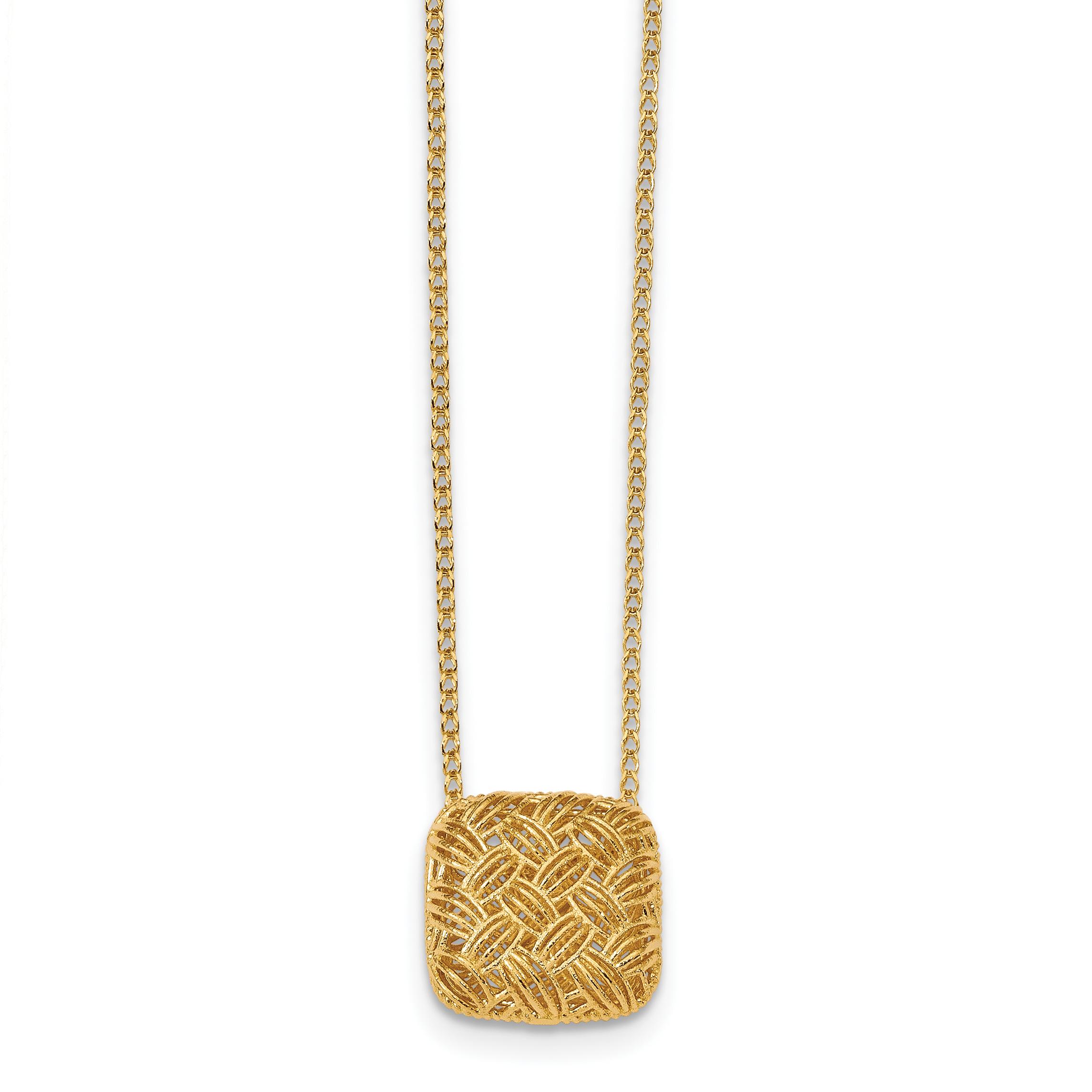 Leslie's 14K Polished Square Necklace