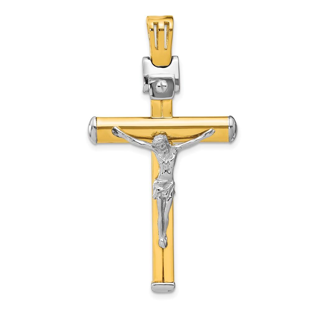 Leslie's 14k Two-tone Polished Crucifix PendantLF1361