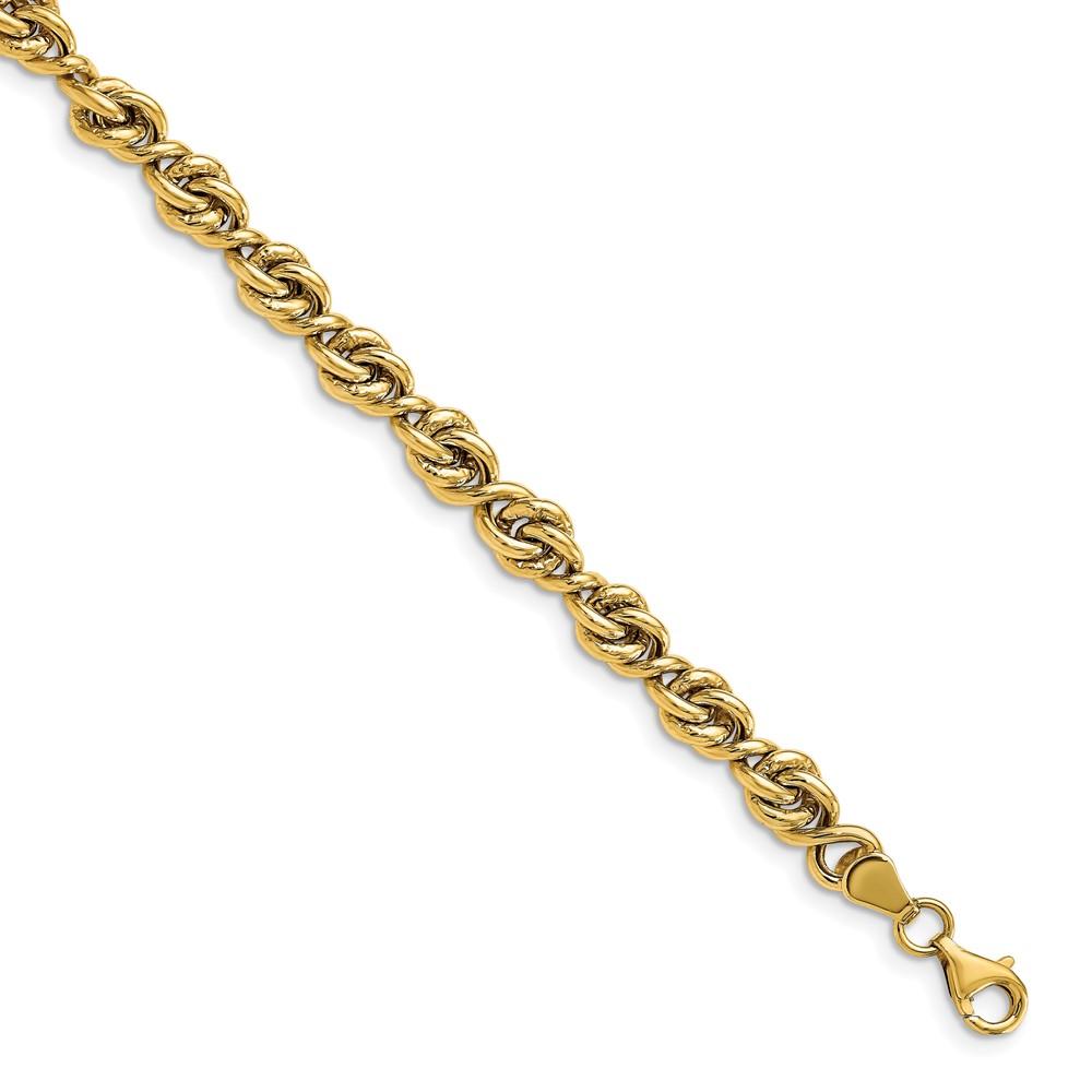 Leslie's 14K Polished Fancy Link BraceletLF1427-7.5