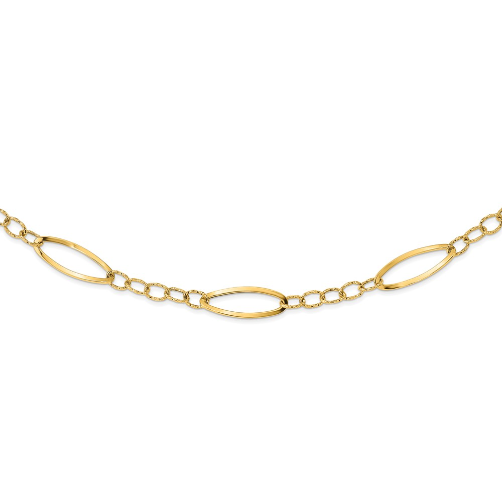 Leslie's 14K Polished D/C Fancy Link NecklaceLF1458-24