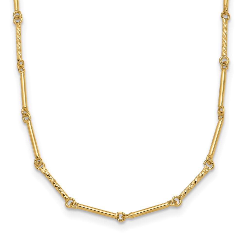 Leslie's 14K Polished D/C NecklaceLF1470-17.5