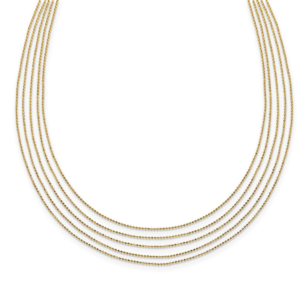Leslie's 14K Polished Multi-layered NecklaceLF1484-17
