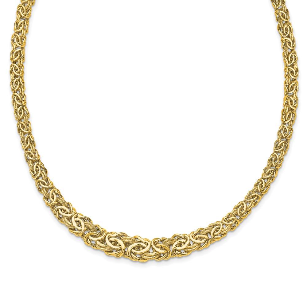 Leslies's 14K Polished Fancy Link NecklaceLF1490-18