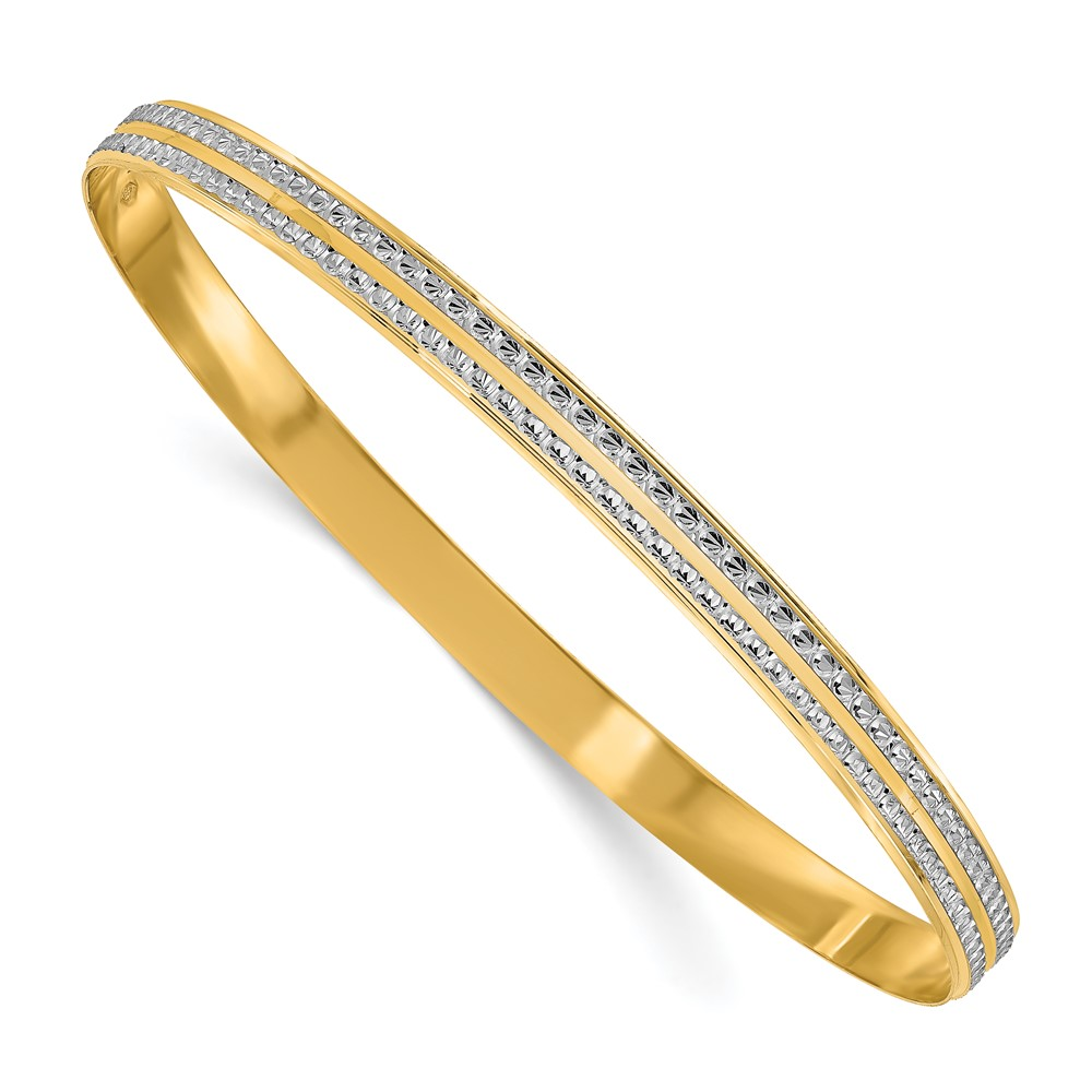 Leslies's 14K Rhodium-plated Polished D/C BangleLF1491
