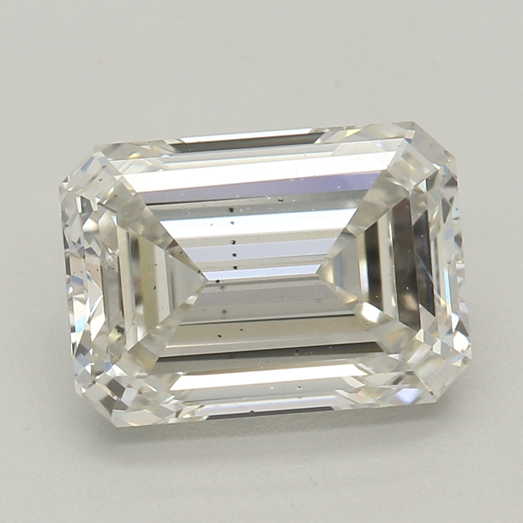 2.03 Carat I-SI1 Ideal Emerald Diamond