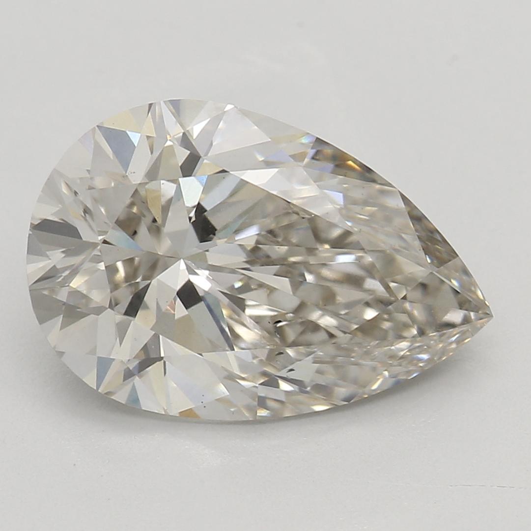 2.03 Carat J-SI1 Ideal Pear Diamond