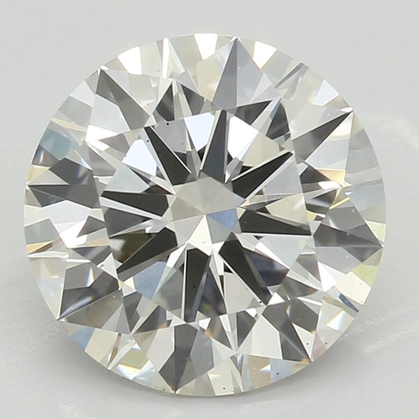 2.01 Carat J-VS2 Ideal Round Diamond