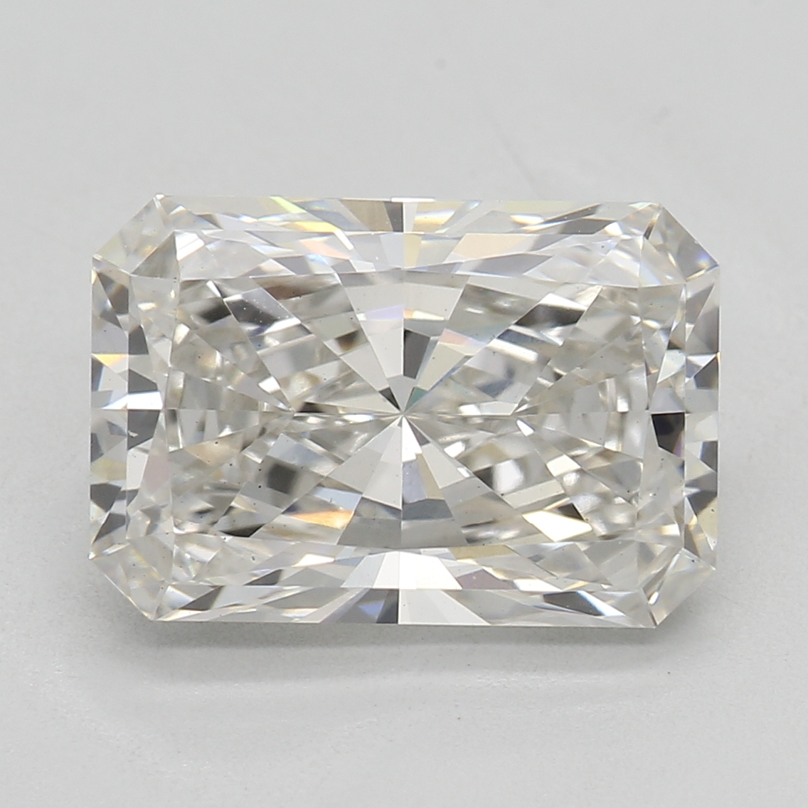 2.45 Carat H-VS1 Ideal Radiant Diamond