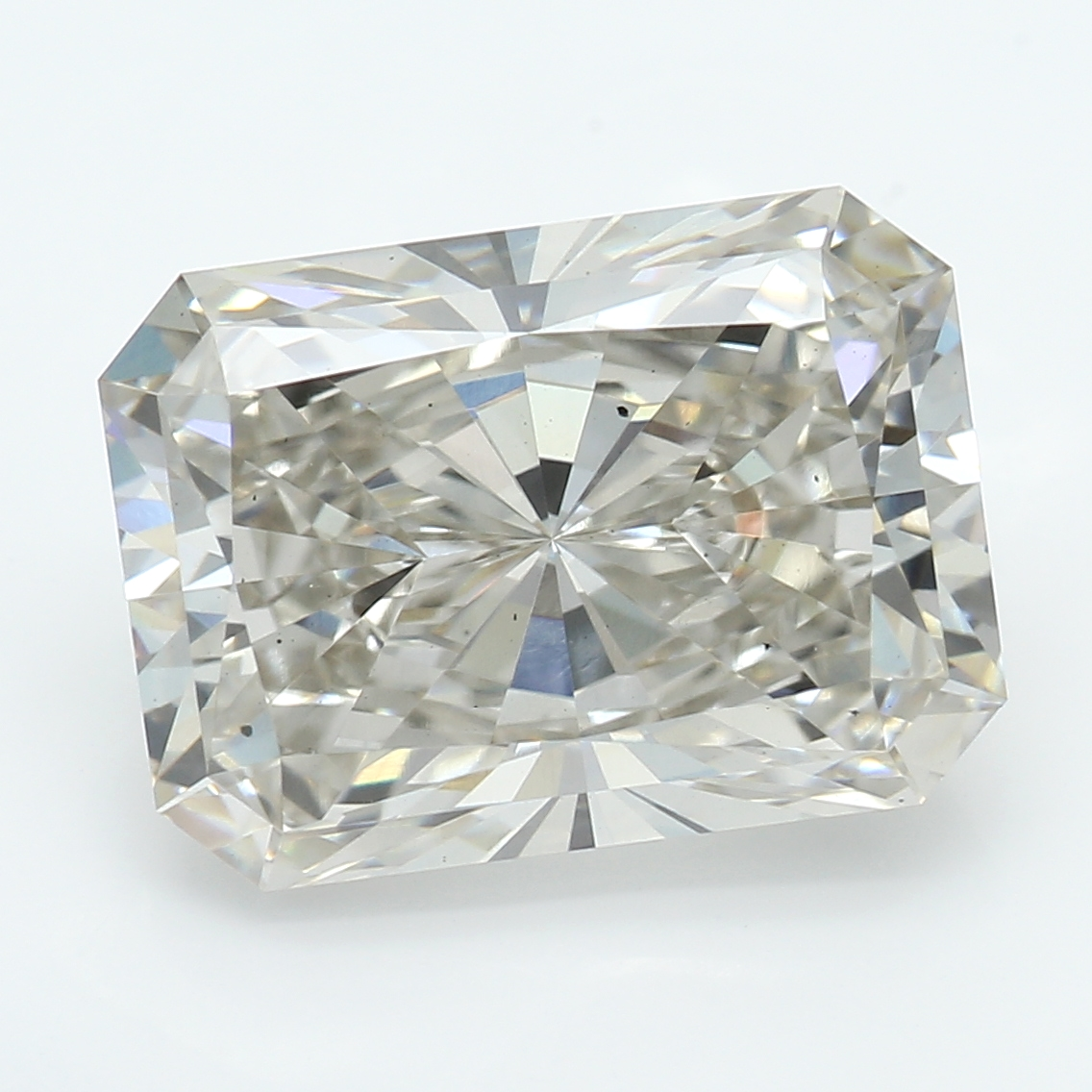 3.05 Carat J-SI1 Ideal Radiant Diamond