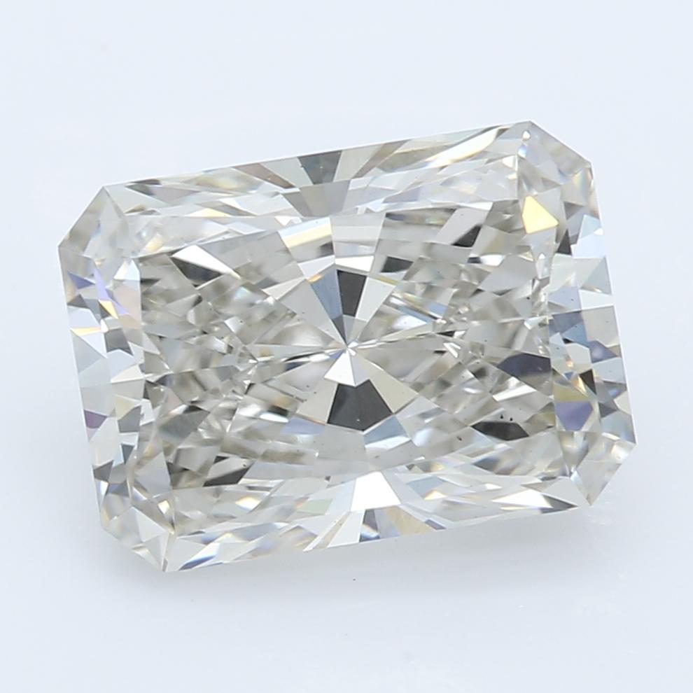 2.22 Carat J-VS1 Ideal Radiant Diamond