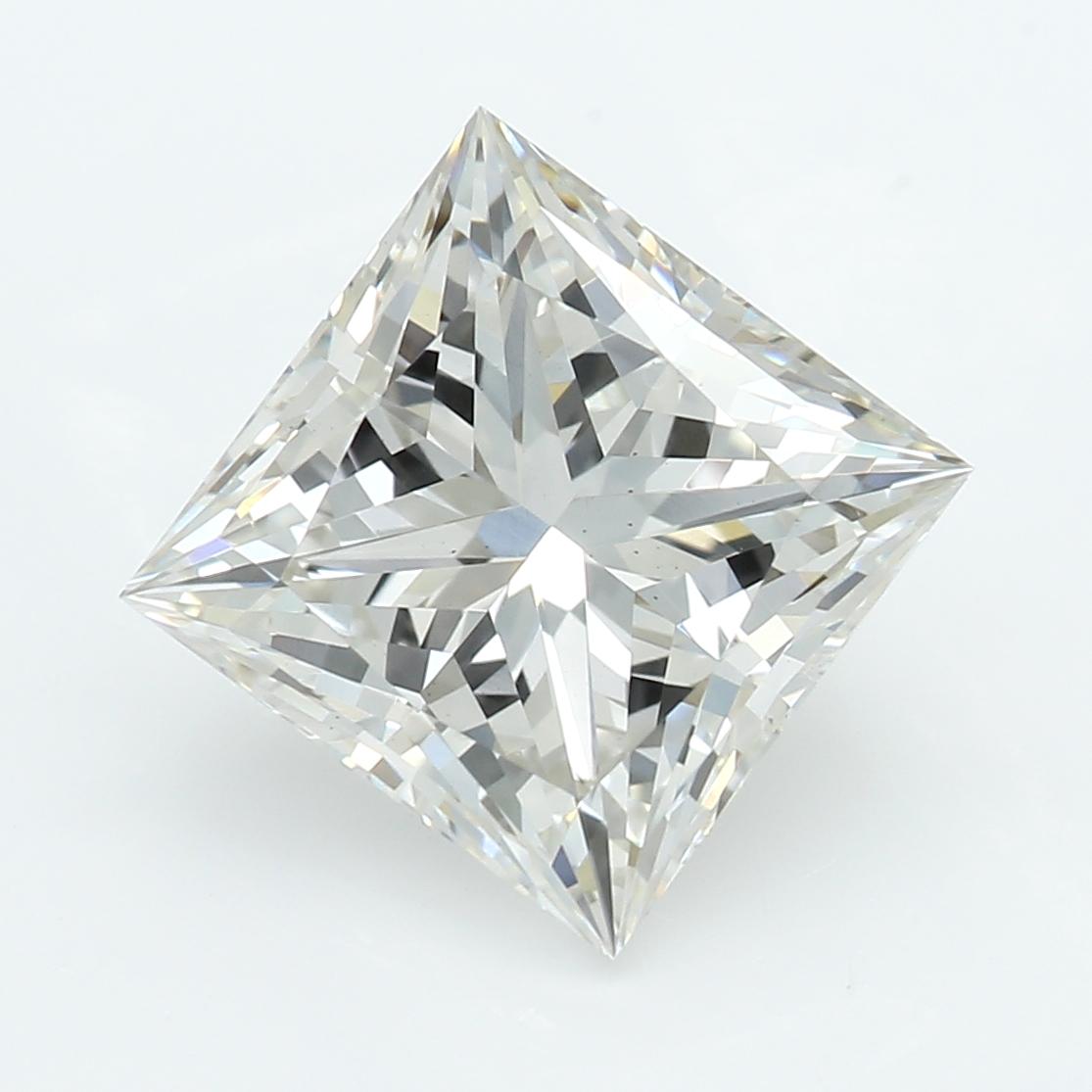 2.08 Carat J-VS2 Ideal Princess Diamond