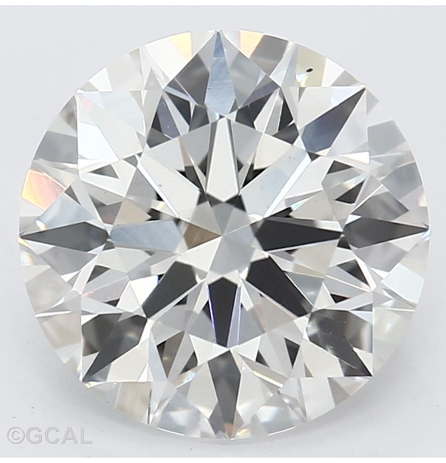 Round Cut 1.74 Carat G Color Vs2 Clarity Sku Lg4130101