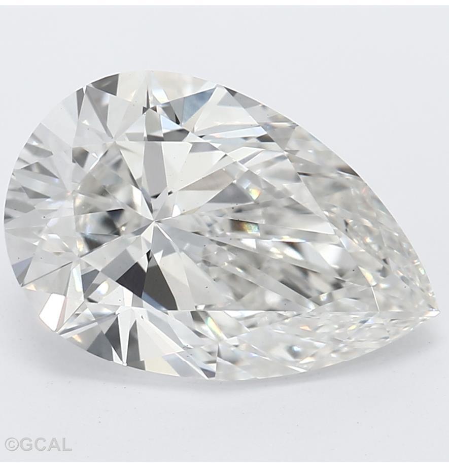Pear Cut 2.01 Carat G Color Vs2 Clarity Sku Lg7336944