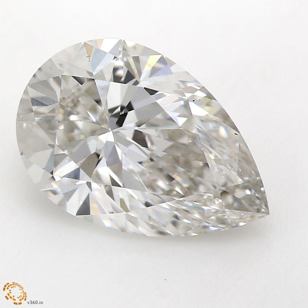 Pear Cut 2.09 Carat G Color Vs2 Clarity Sku Lg6831539