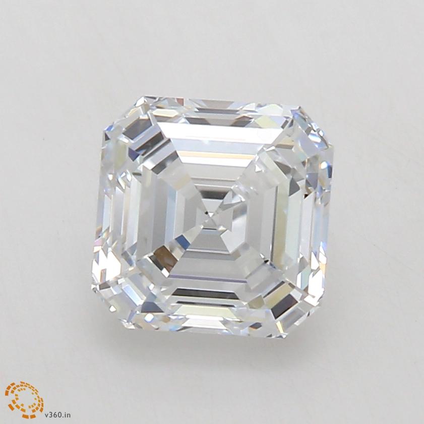 1.03-Carat Lab Created Ideally Cut Asscher Diamond