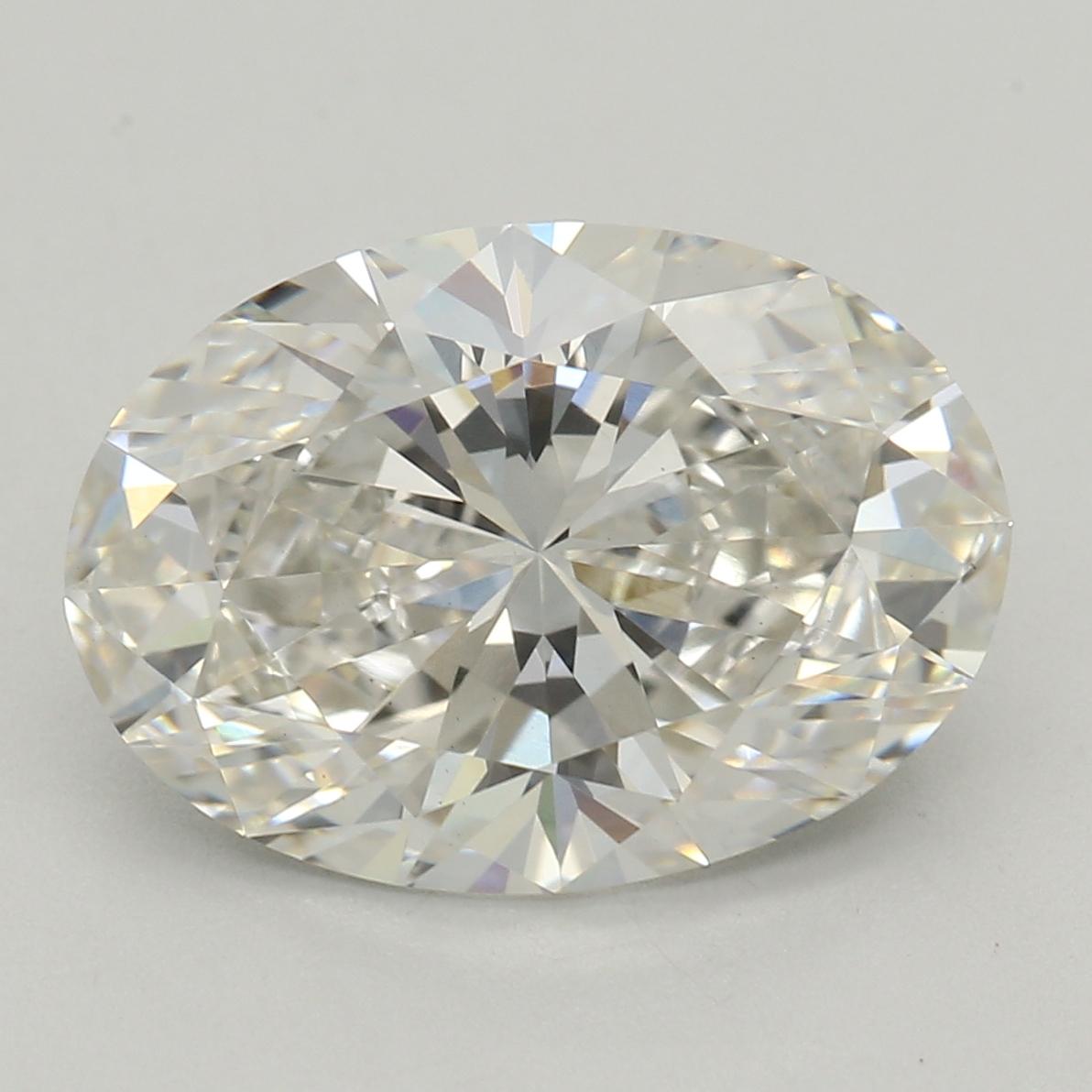 2.36-Carat Lab Created Ideally Cut Oval Diamond