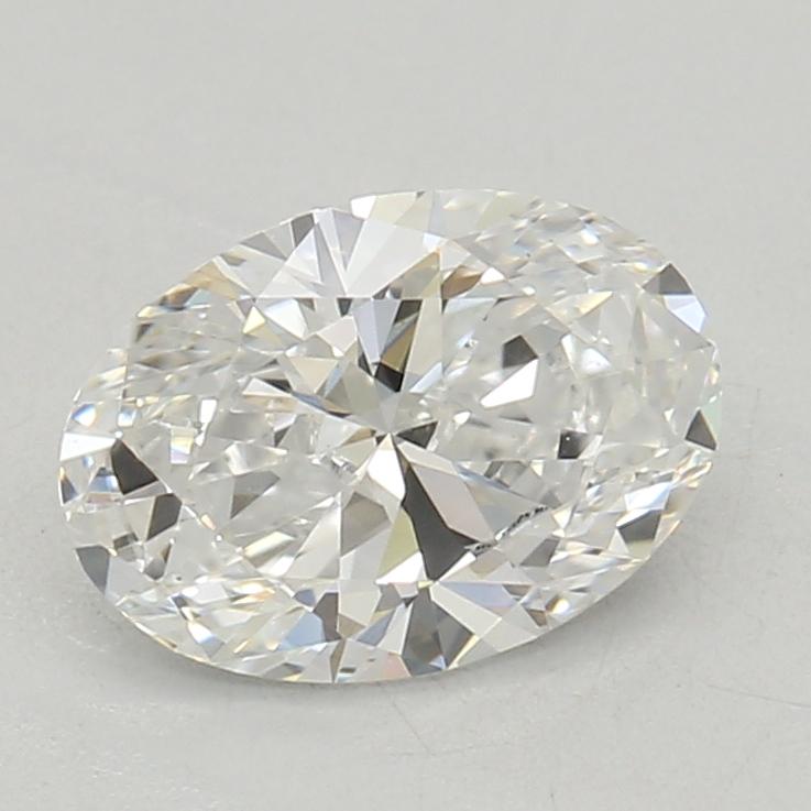 0.51-Carat Lab Created Ideally Cut Oval Diamond