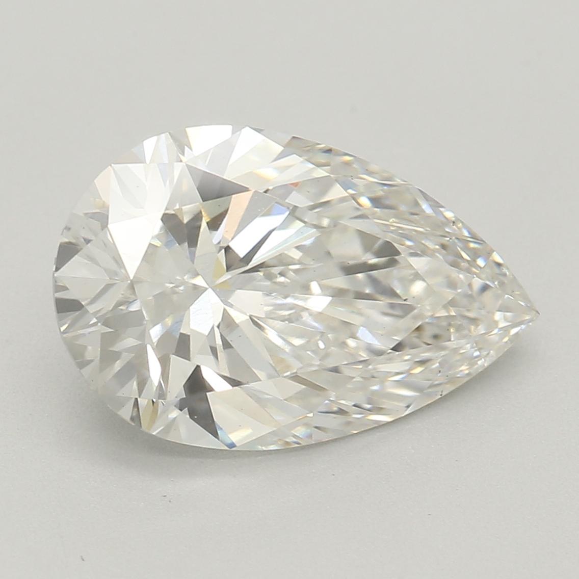 1.84-Carat Lab Created Ideally Cut Pear Diamond