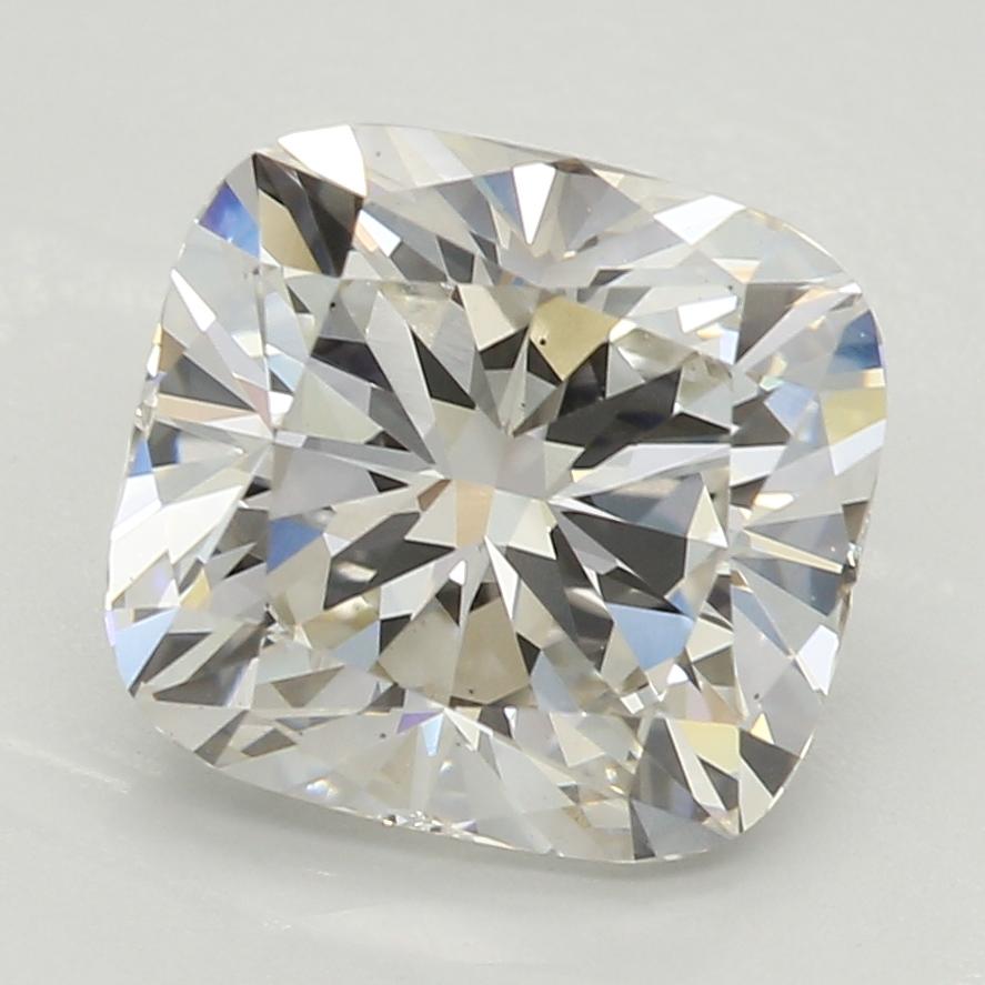 2.04-Carat Lab Created Ideally Cut Cushion Diamond