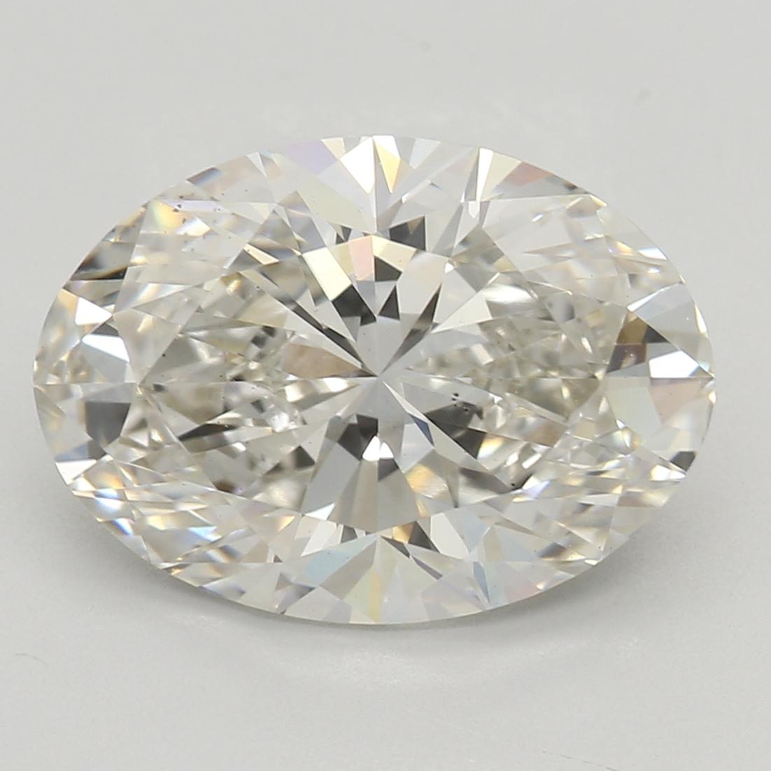 2.52 Carat I-VS2 Excellent Oval Diamond