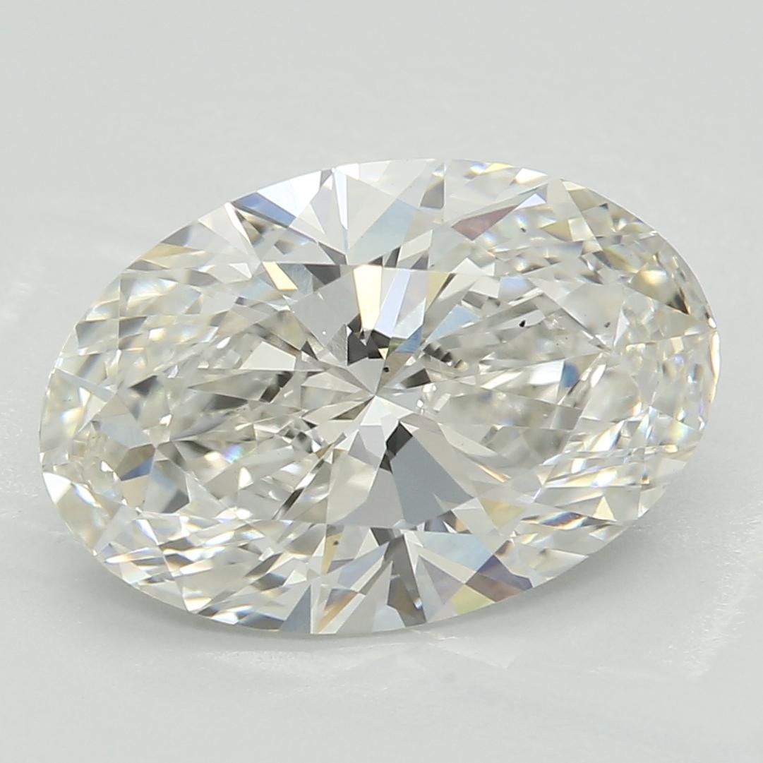 2.56 Carat H-VS2 Excellent Oval Diamond