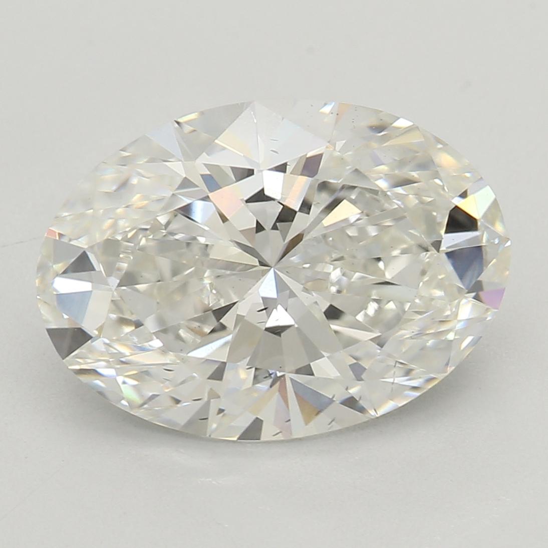 2.36 Carat H-SI1 Excellent Oval Diamond