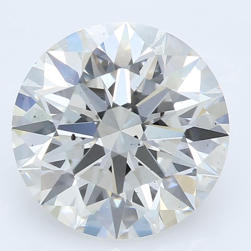 2.37 Carat J-SI1 Ideal Round Diamond