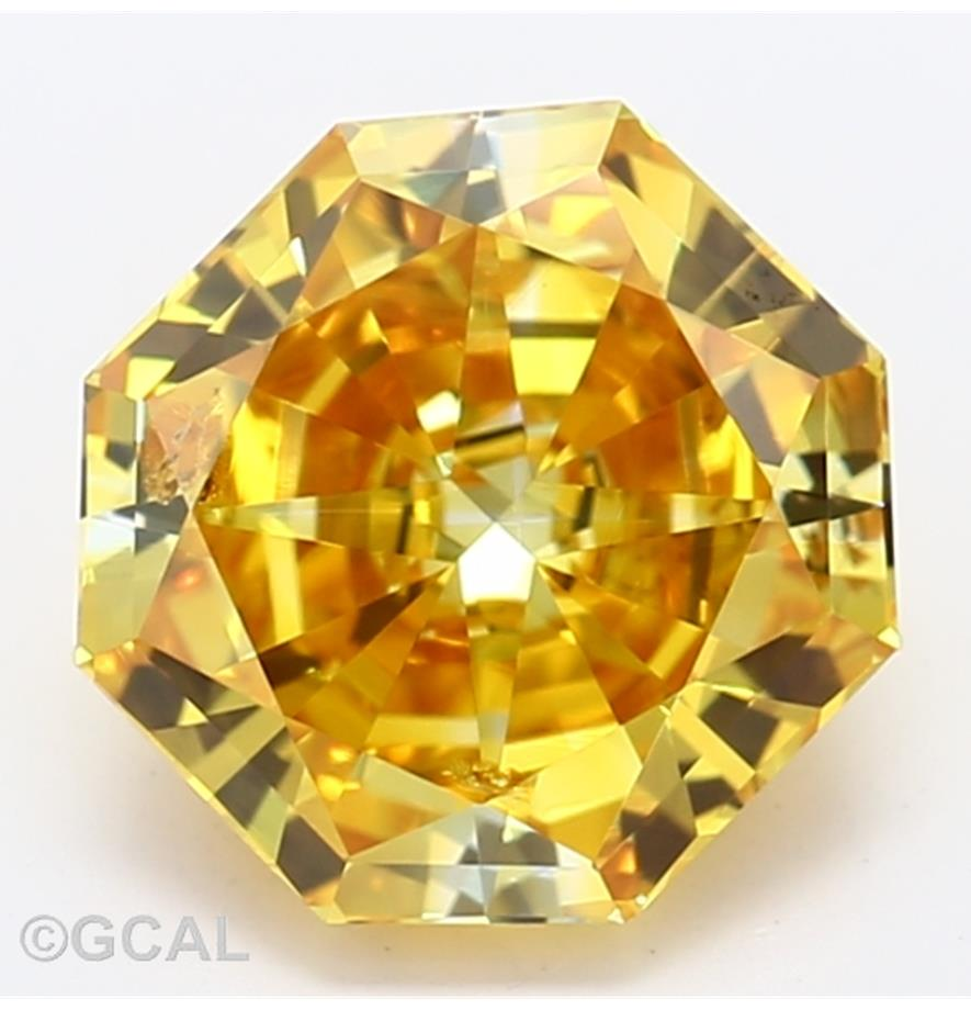 Radiant Cut 1.06 Carat Yellow Color I1 Clarity Sku Lg7231900