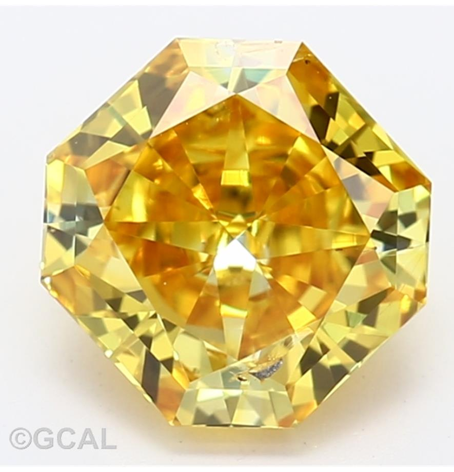 Radiant Cut 1.10 Carat Yellow Color I1 Clarity Sku Lg3931901