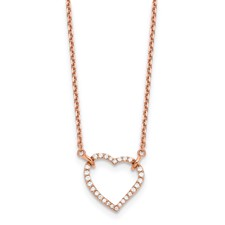 e95b27448c1f MSRP   652.32. True Origin VS SI Colorless Lab Grown Diamond 14k Rose Gold  1 5ct. Heart Pendant with Necklace
