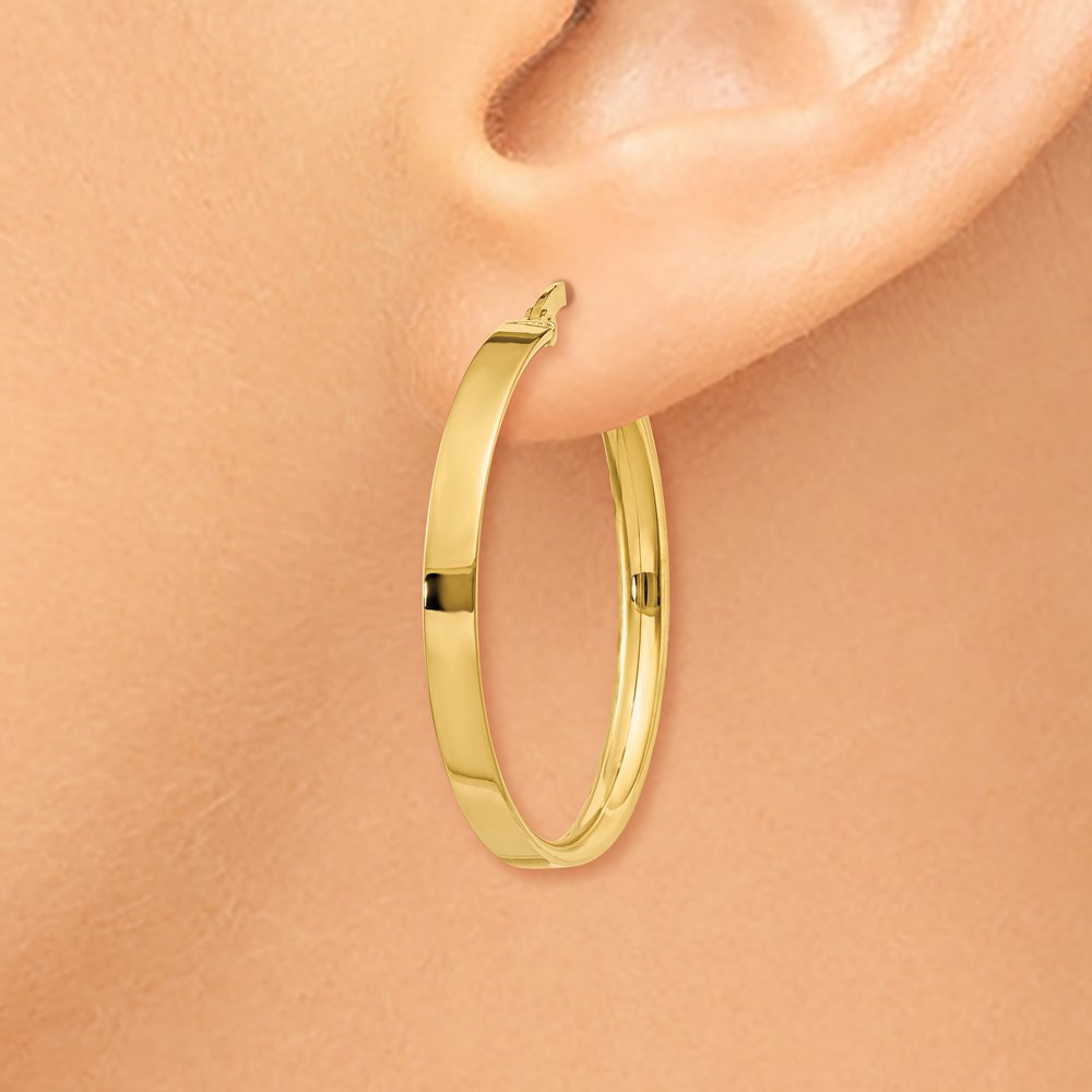 5f5e9abbe215c Details about 14k 14kt Yellow Gold 3mm Large Hoop Earrings 27 mm