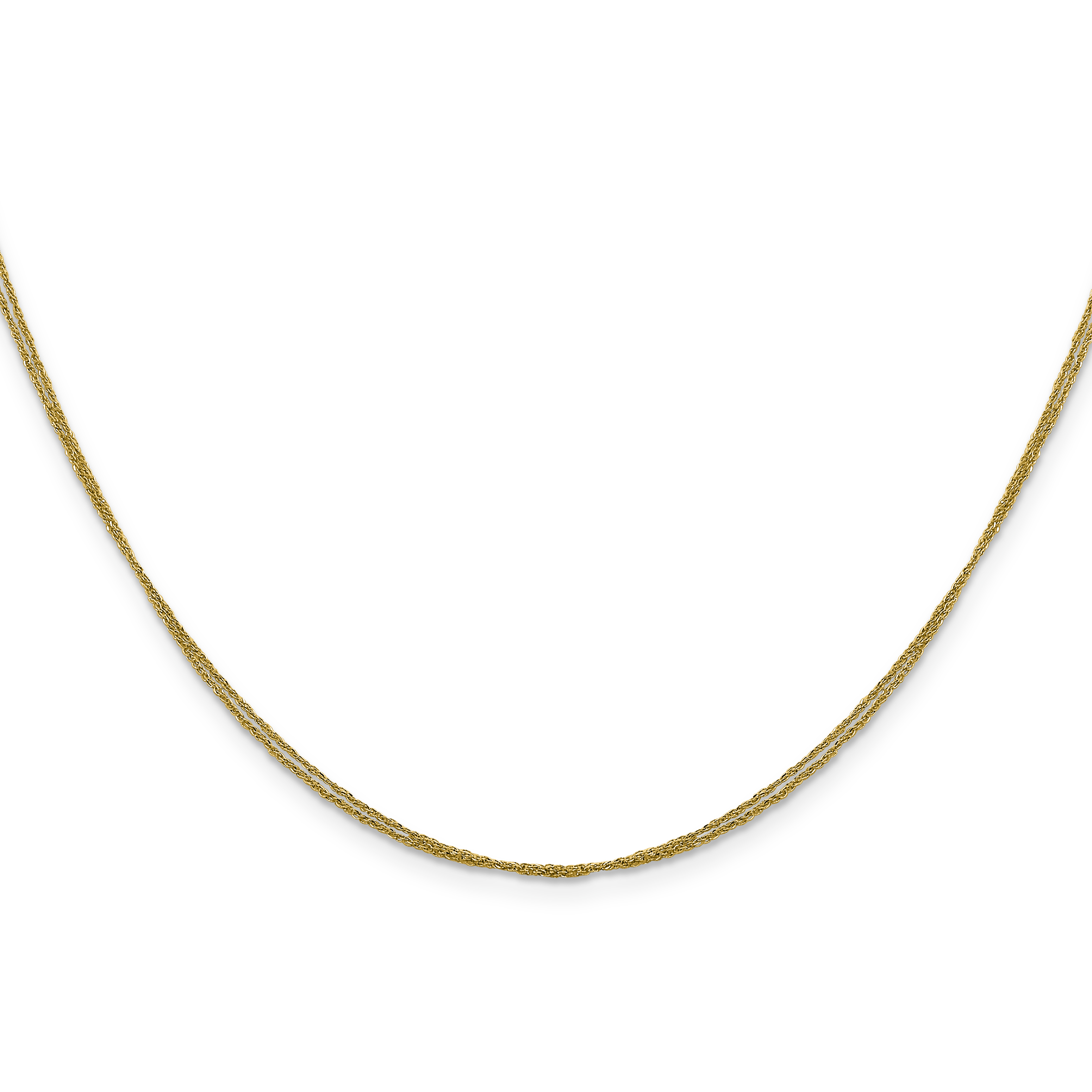 14k .75 mm Double Strand Ropa Chain. Weight: 1.69,  Length: 16
