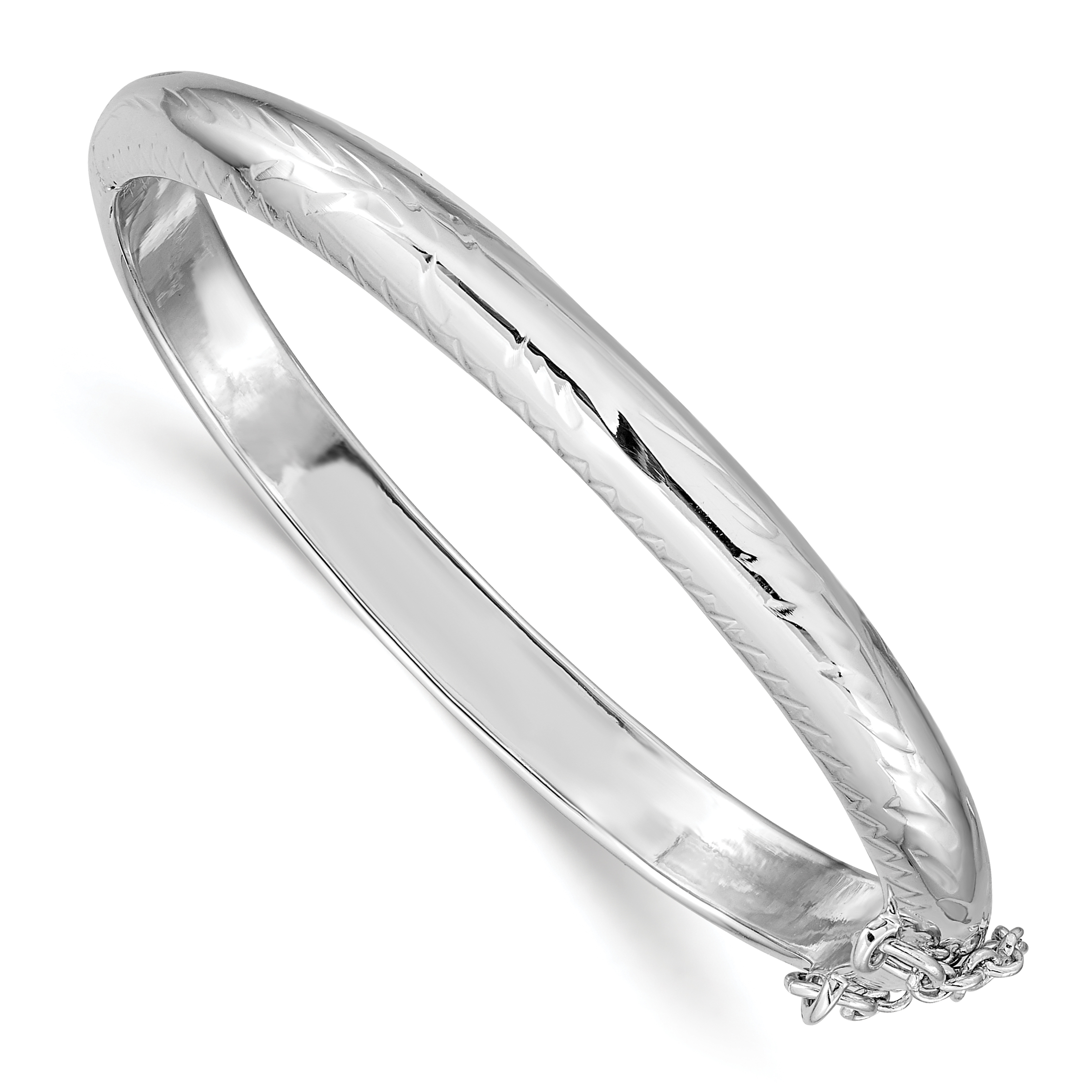 Plated Rhodium Plated Polished Cuff Bangle Top 10 Jewelry Gift Sterling Silver Rhod