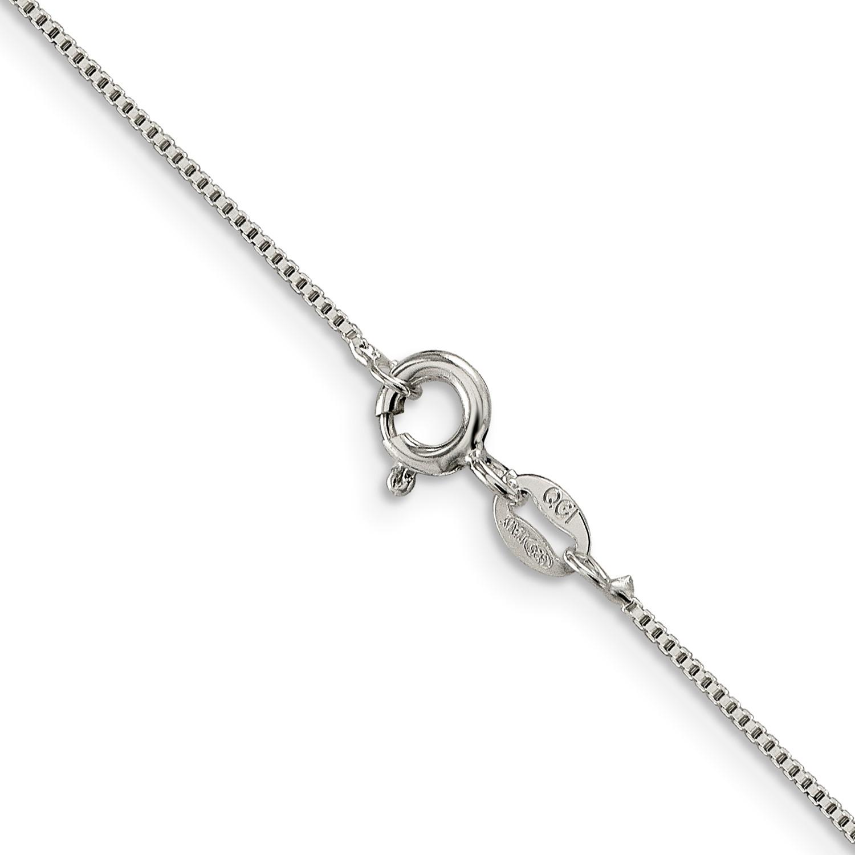 Sterling-Silver-10in-8mm-Box-Chain-Bracelet