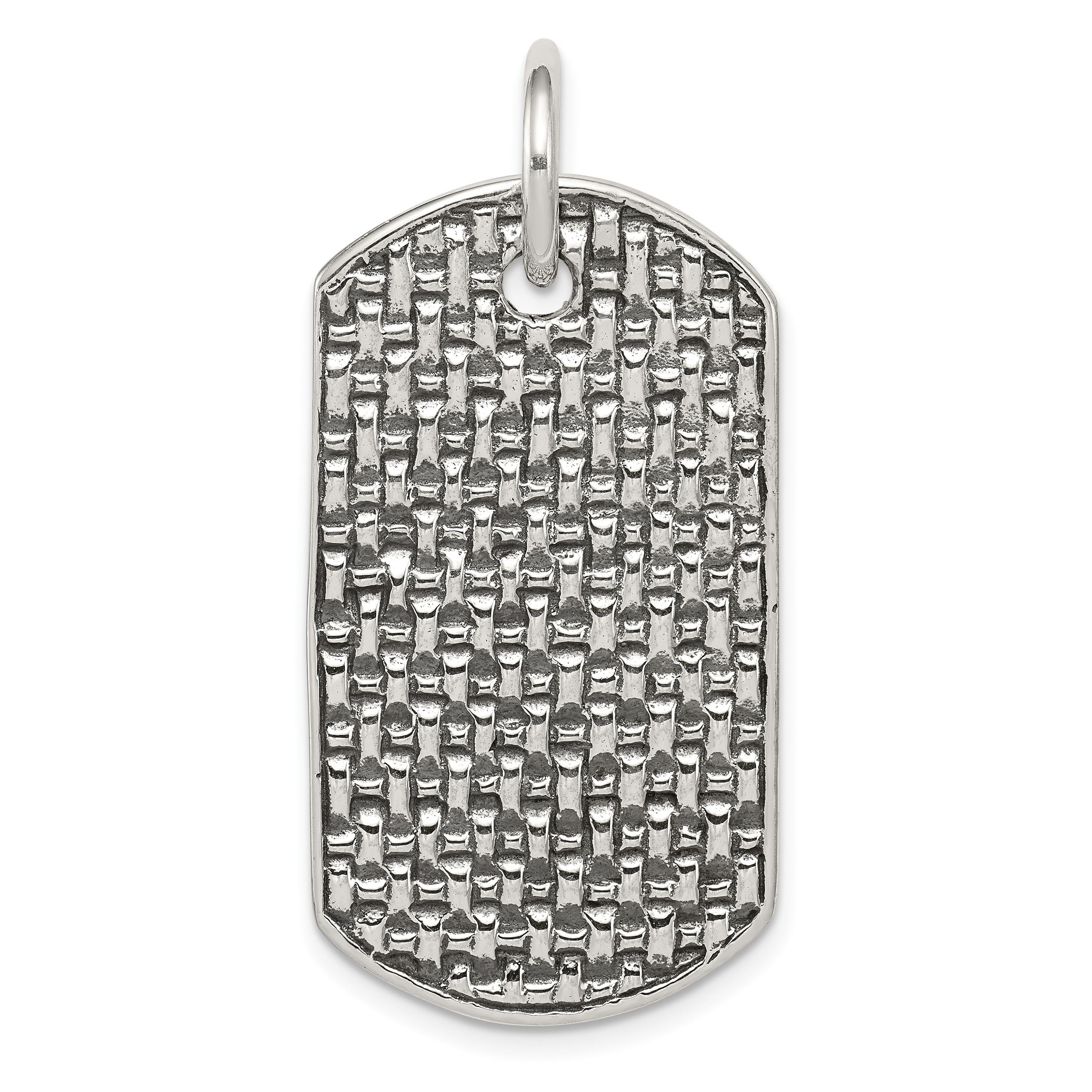 Sterling silver dog tag pendant aloadofball Images