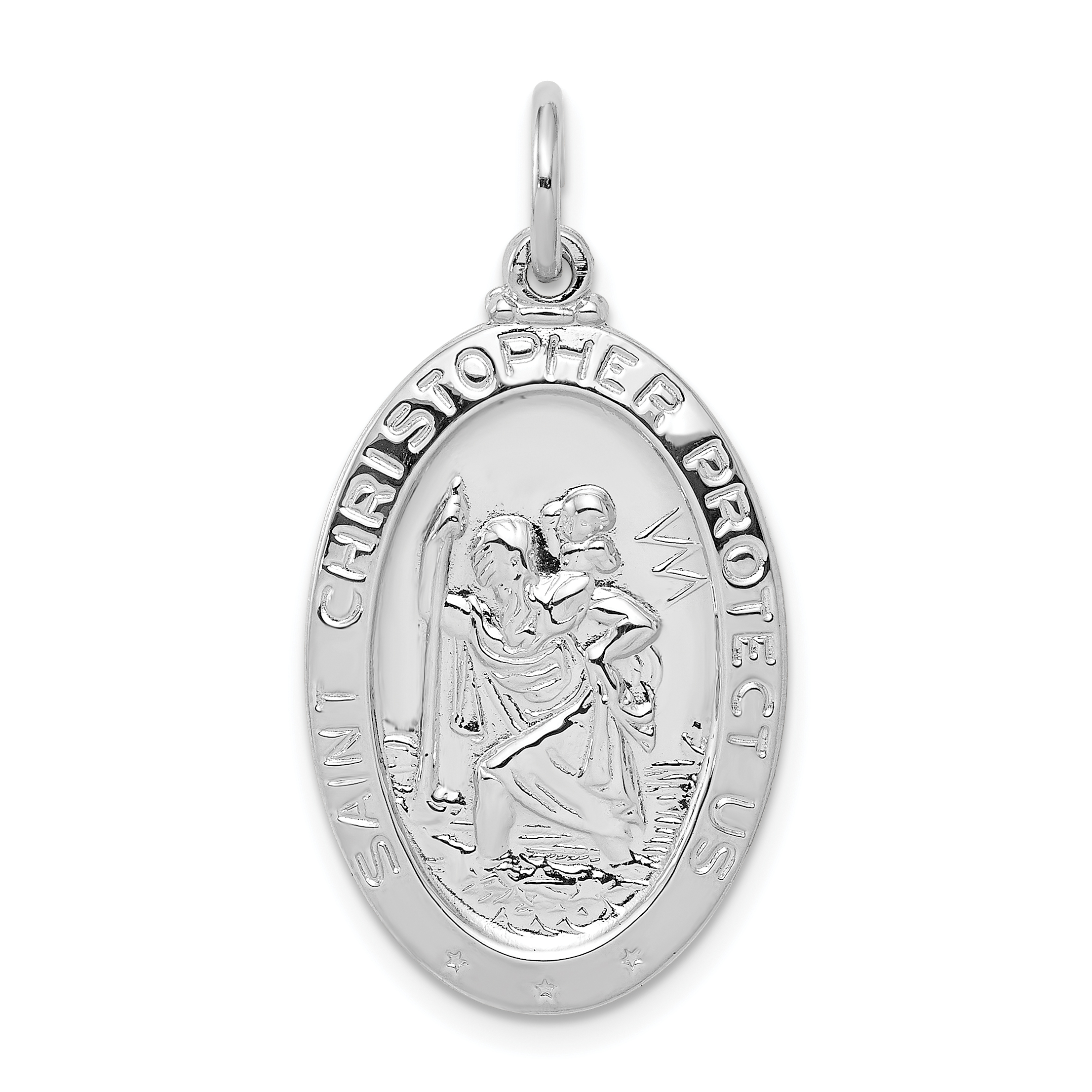 small pendant categories silver itm solid medal medallion saint christopher store us protect sterling