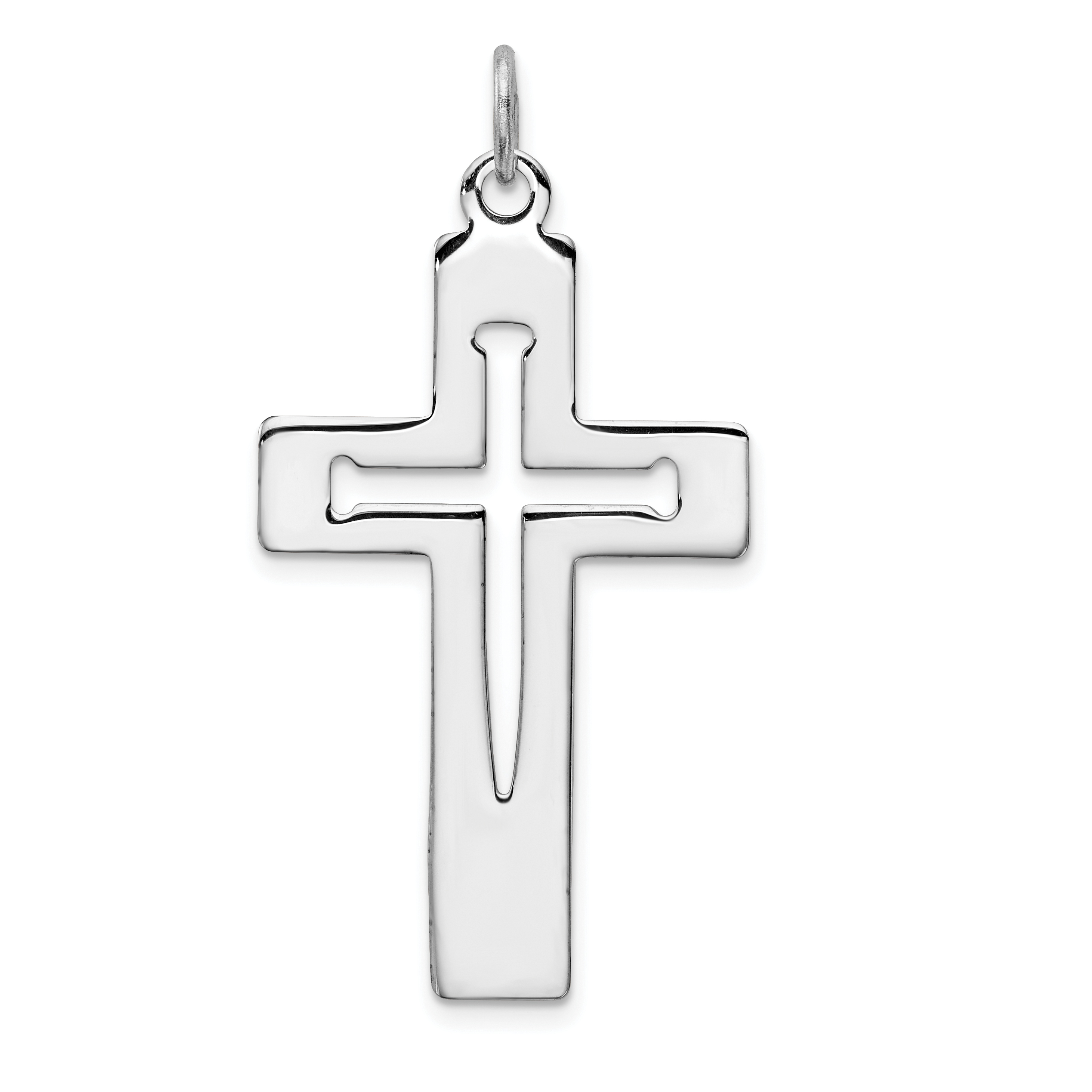 Sterling silver rhodium plated latin cross pendant weight grams sterling silver rhodium plated latin cross pendant weight grams length 39mm width 22mm aloadofball Images