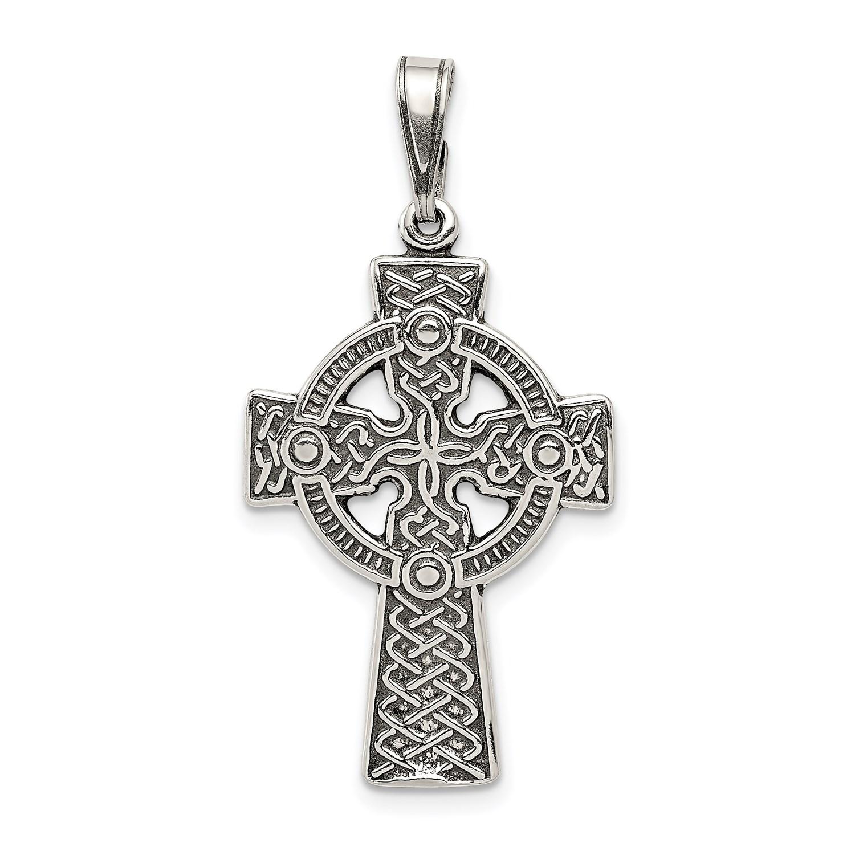sterling silver antiqued celtic cross pendant 1 4inx0. Black Bedroom Furniture Sets. Home Design Ideas