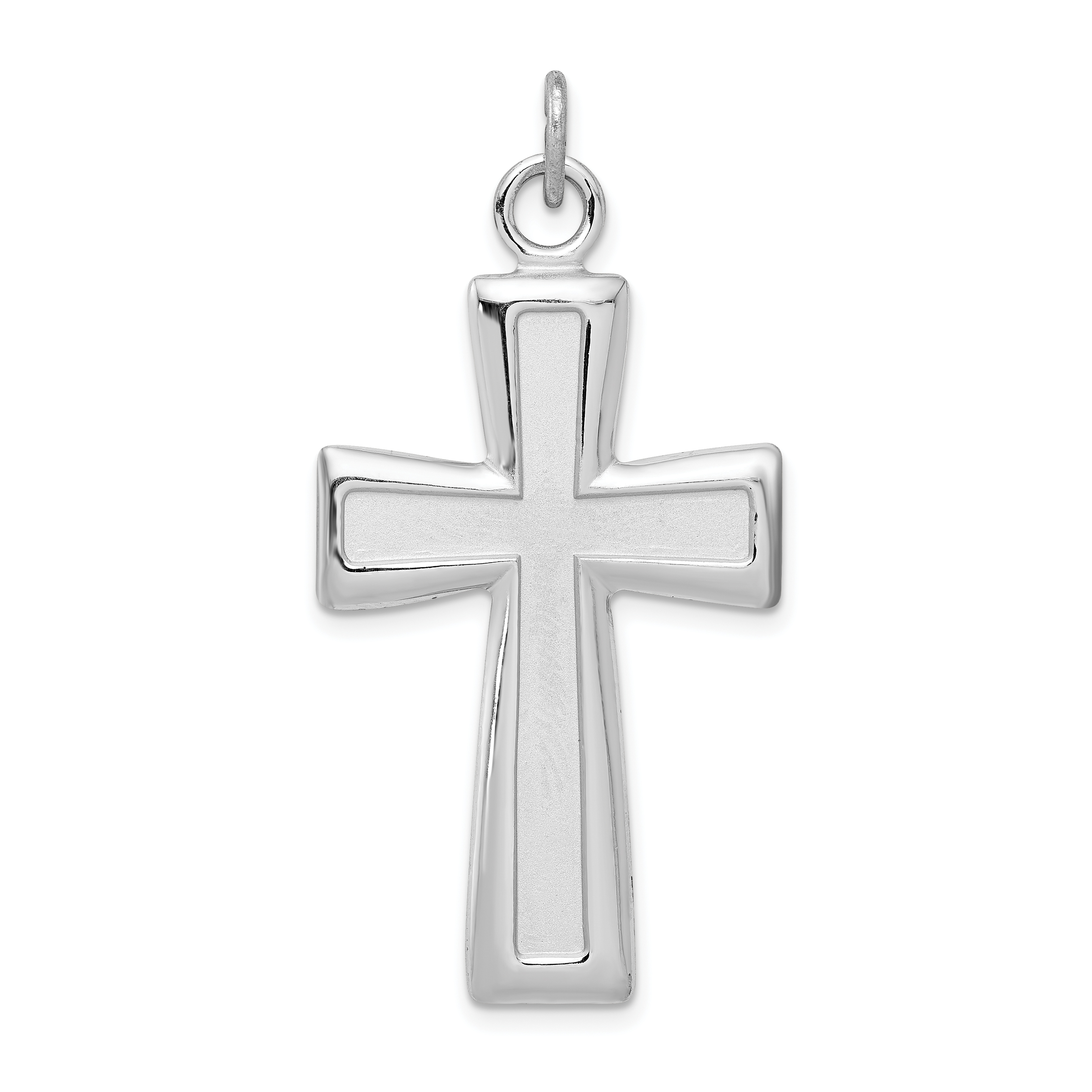 Sterling Silver Rhodium Plated Polished Anchor Charm on a Sterling Silver Cable Snake or Ball Chain Necklace