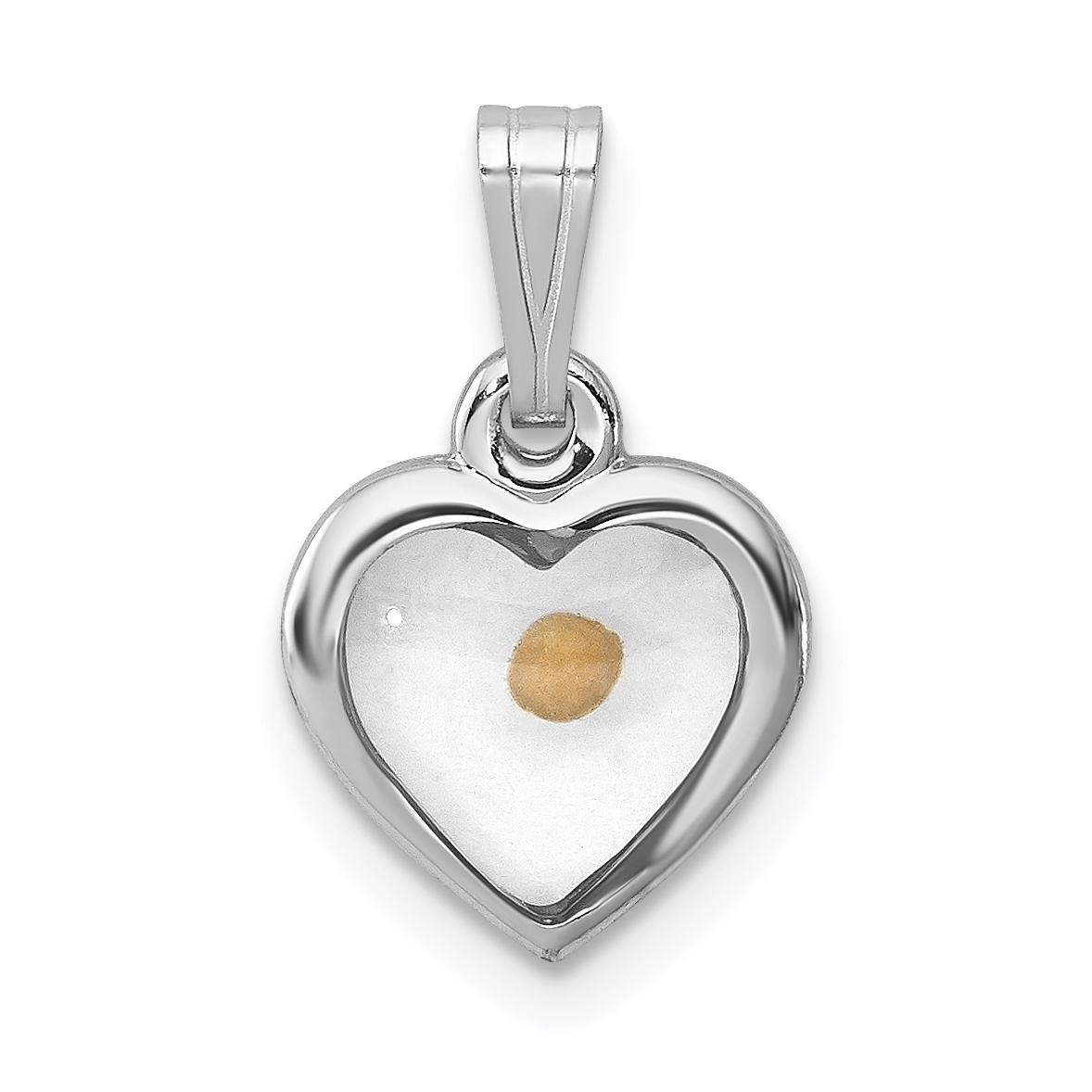 Silver rhodium plated small heart with mustard seed pendant weight sterling silver rhodium plated small heart with mustard seed pendant weight 036 grams length 15mm width 13mm aloadofball Image collections