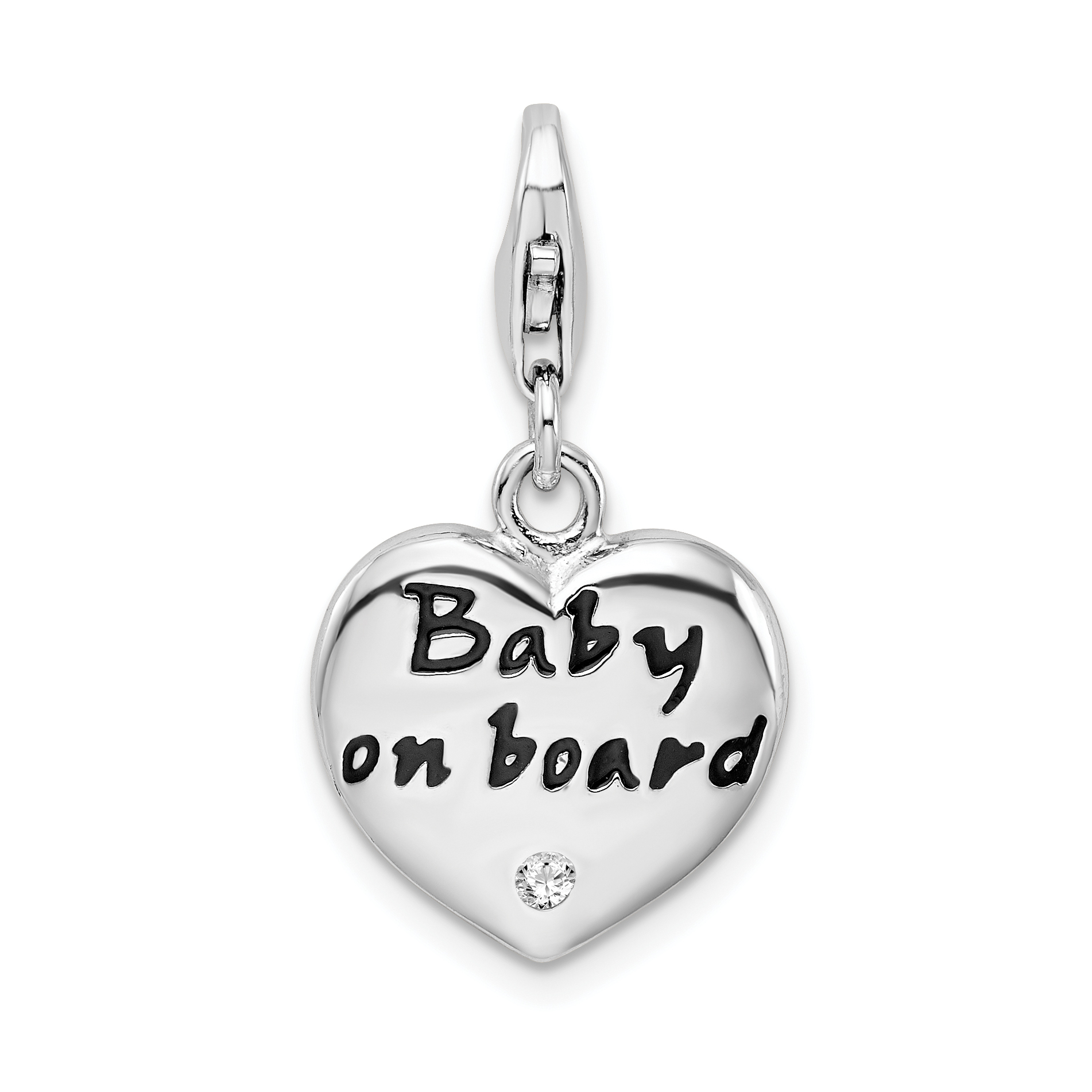0.7in With Traditional Methods Sterling Silver 3-d Enameled Anchorwith Lobster Clasp Charm