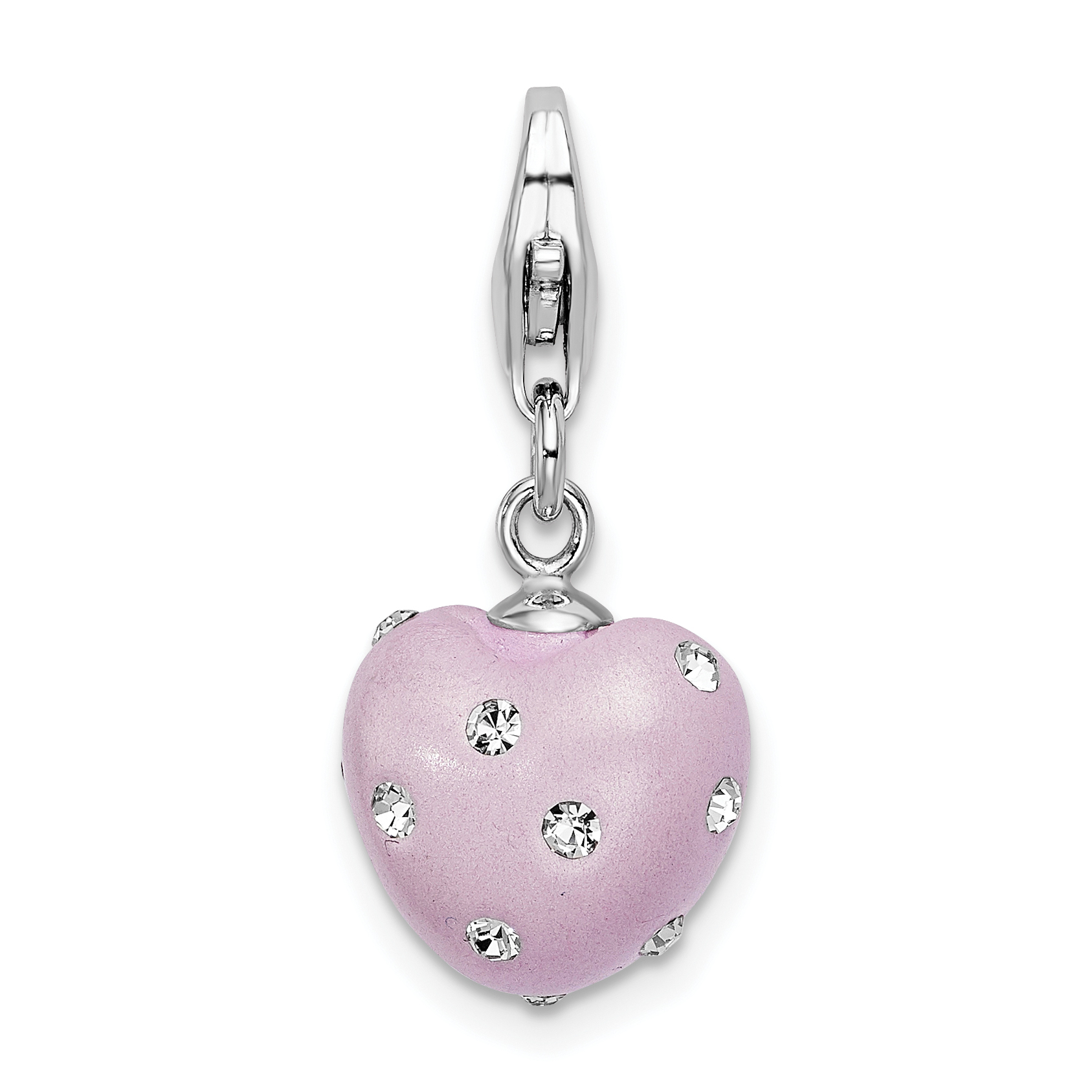 Sterling Silver Stellux Crystal Heart Pendant Pendants /& Charms Jewelry