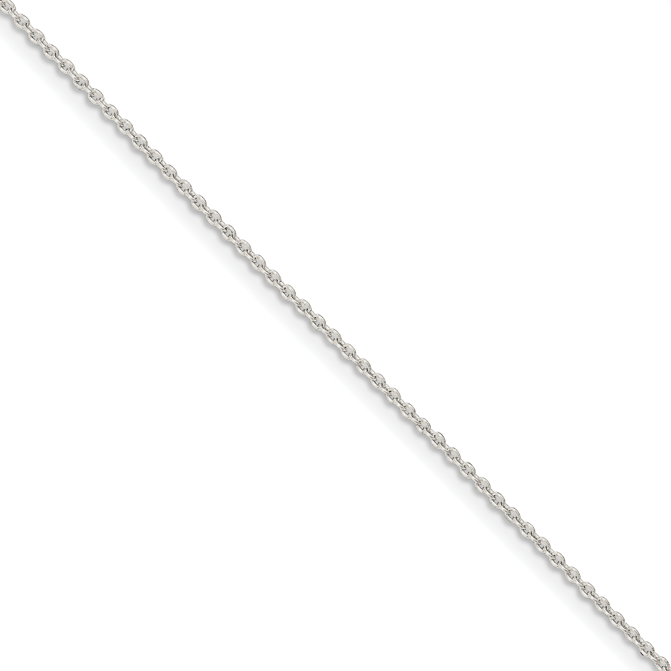 Sterling Silver 1.5mm Cable Chain | Weight: 1.18 grams, Length: 9mm, Width: 1.5mm