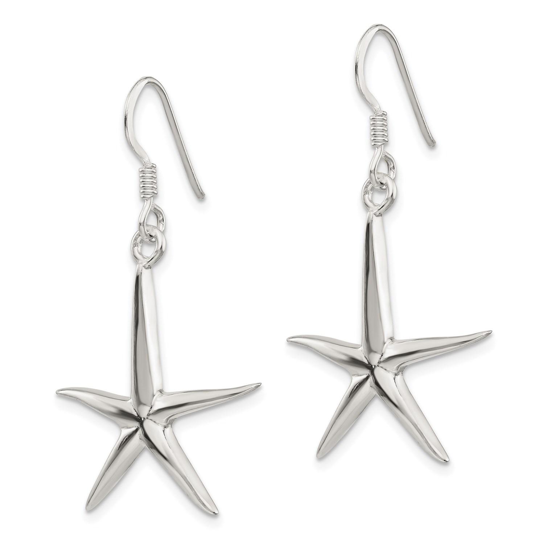 Sterling-Silver-Starfish-Dangle-Earrings-1-4IN-x-0-8IN