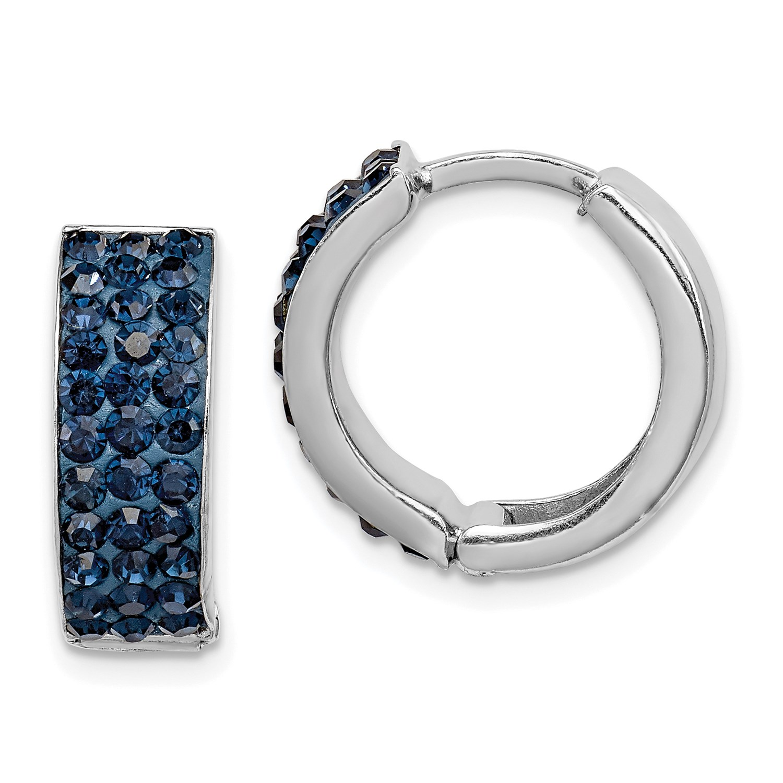 Image Is Loading Sterling Silver Dark Blue Preciosa Crystal Small 0